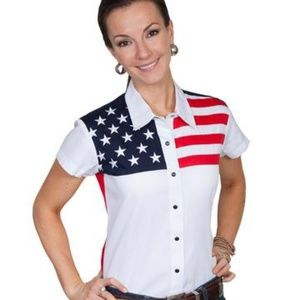 Scully Patriotic Flag Stars & Stripes Size Medium